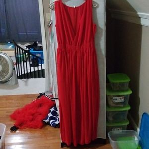 Handmade red dress
